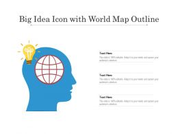 Big Idea Icon With World Map Outline