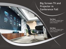 Big Screen TV And Projector In Conference Fall