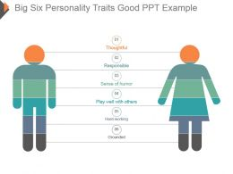 Big Six Personality Traits Good Ppt Example