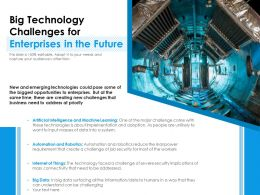 Big Technology Challenges For Enterprises In The Future