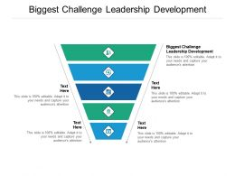 Biggest Challenge Leadership Development Ppt Powerpoint Presentation Outline Display Cpb