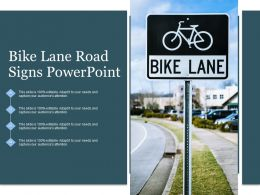 Bike Lane Road Signs Powerpoint