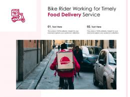 Bike Rider Working For Timely Food Delivery Service Infographic Template