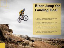 Biker Jump For Landing Goal