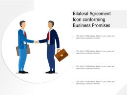 Bilateral Agreement Icon Conforming Business Promises