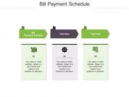 Bill Payment Schedule Ppt Powerpoint Presentation Summary Gridlines Cpb