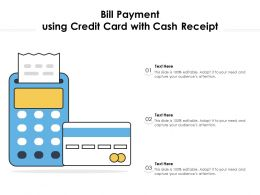 Bill Payment Using Credit Card With Cash Receipt
