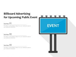 Billboard Advertising For Upcoming Public Event