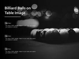 Billiard Balls On Table Image