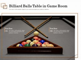 Billiard Balls Table In Game Room