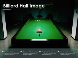 Billiard Hall Image