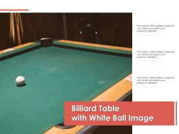 Billiard Table With White Ball Image