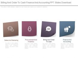 Billing And Order To Cash Finance And Accounting Ppt Slides Download