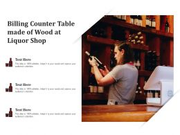 Billing Counter Table Made Of Wood At Liquor Shop