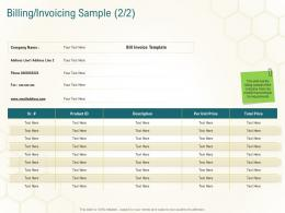 Billing Invoicing Sample Price Business Planning Actionable Steps Ppt Styles Show