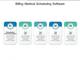 Billing Medical Scheduling Software Ppt Powerpoint Presentation Outline Picture Cpb