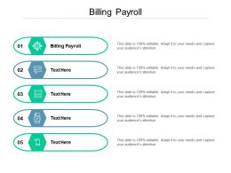 Billing Payroll Ppt Powerpoint Presentation File Samples Cpb