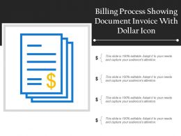 Billing Process Showing Document Invoice With Dollar Icon
