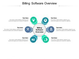 Billing Software Overview Ppt Powerpoint Presentation Gallery Deck Cpb
