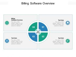 Billing Software Overview Ppt Powerpoint Presentation Infographic Template Slide Cpb
