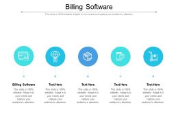 Billing Software Ppt Powerpoint Presentation Gallery Clipart Images Cpb