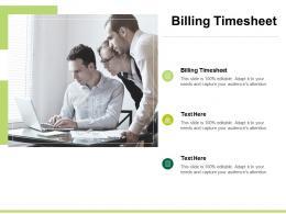Billing Timesheet Ppt Powerpoint Presentation Portfolio Show Cpb