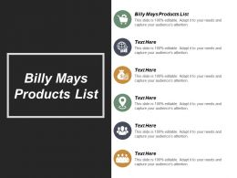 Billy Mays Products List Ppt Powerpoint Presentation File Diagrams Cpb