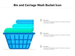 Bin And Carriage Wash Bucket Icon