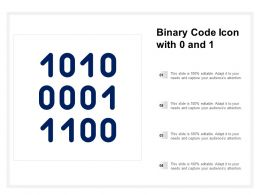 Binary Code Icon With 0 And 1