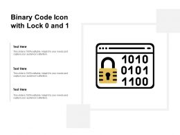 Binary Code Icon With Lock 0 And 1