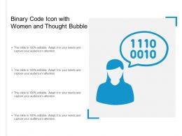 Binary Code Icon With Women And Thought Bubble
