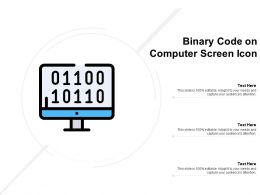 Binary Code On Computer Screen Icon