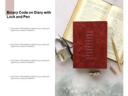 Binary Code On Diary With Lock And Pen