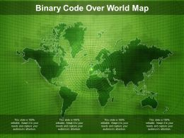 Binary Code Over World Map