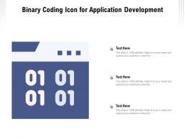 Binary Coding Icon For Application Development