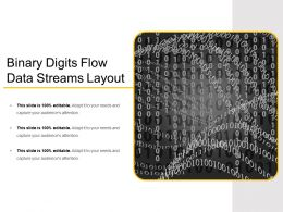 Binary Digits Flow Data Streams Layout