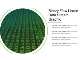 Binary Flow Linear Data Stream Graphic
