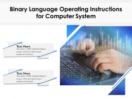Binary Language Operating Instructions For Computer System