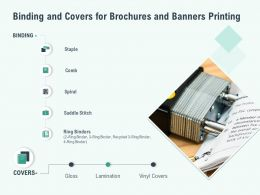 Binding And Covers For Brochures And Banners Printing Ppt Slides