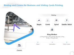 Binding And Covers For Business And Visiting Cards Printing Ppt Powerpoint Presentation Show