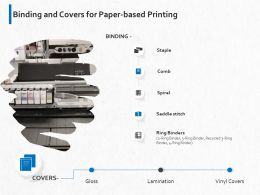 Binding And Covers For Paper Based Printing Ppt Powerpoint Presentation Gallery