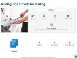 Binding And Covers For Printing Ppt Powerpoint Presentation Show Styles