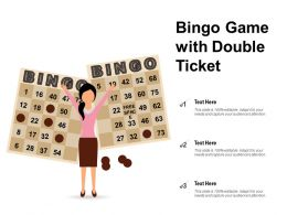Bingo Game With Double Ticket
