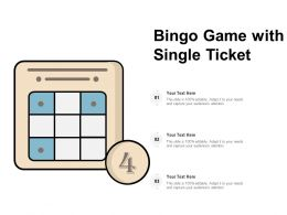 Bingo Game With Single Ticket