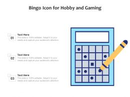 Bingo Icon For Hobby And Gaming
