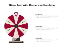 Bingo Icon With Casino And Gambling