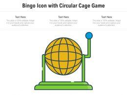 Bingo Icon With Circular Cage Game