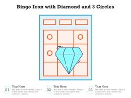 Bingo Icon With Diamond And 3 Circles