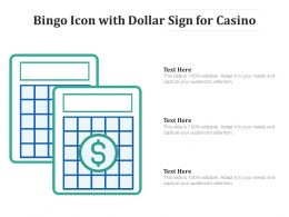 Bingo Icon With Dollar Sign For Casino
