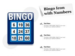 Bingo Icon With Numbers